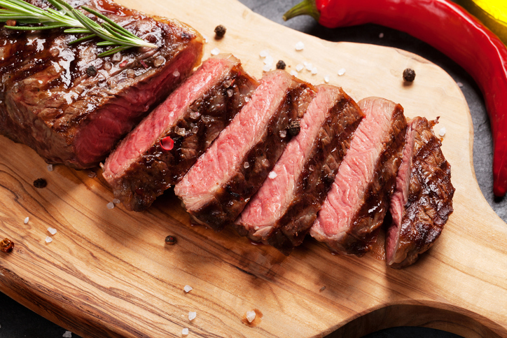 Grilled striploin steak
